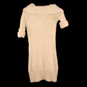 Say What? Dresses - Say What? Sweater Dress M Short Sleeved Cowl Neck